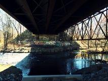 Sotto il ponte Immagine Stock