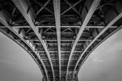 Sotto il ponte di Blackfrairs Immagini Stock