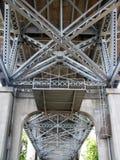 Sotto il ponte di Burrard Fotografia Stock Libera da Diritti