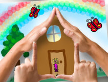 Sotto il Rainbow Fotografia Stock Libera da Diritti