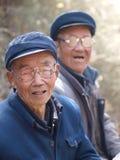 Sotto l'uomo anziano cinese del bagno del sole Immagine Stock Libera da Diritti
