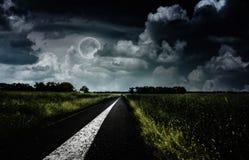 Sotto la luna piena. Fotografie Stock Libere da Diritti