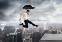 Sotto la tempesta Fotografia Stock