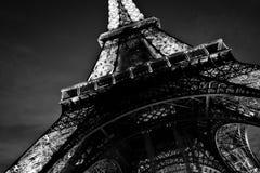 sotto la Torre Eiffel Immagini Stock