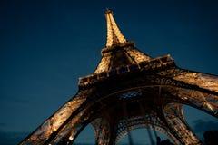 sotto la Torre Eiffel Fotografie Stock