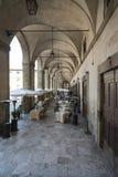 Sotto le gallerie del palazzo delle casette Arezzo Toscana Italia Europa Fotografie Stock