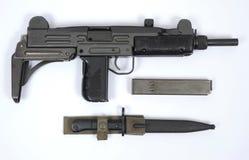 Sotto mitragliatrice UZI israeliana Immagine Stock Libera da Diritti