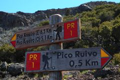 Sotto Pico Ruivo Fotografie Stock