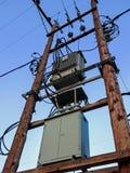 Sotto stazione di elettricità Fotografie Stock Libere da Diritti