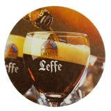 Sottobicchiere della bevanda di Beermat isolato Fotografia Stock
