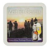 Sottobicchiere della bevanda di Beermat isolato Fotografia Stock Libera da Diritti