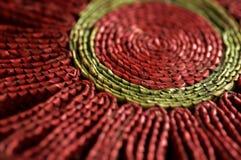 Sottobicchiere rosso fotografia stock