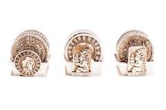 Sottobicchieri del calendario di maya Immagini Stock Libere da Diritti