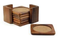 Sottobicchieri di legno Fotografia Stock Libera da Diritti