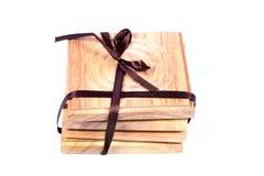 Sottobicchieri di legno Fotografia Stock