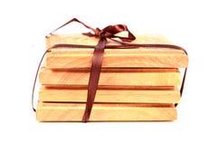 Sottobicchieri di legno Immagini Stock