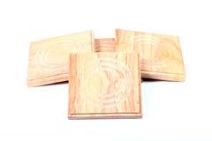Sottobicchieri di legno Fotografie Stock Libere da Diritti