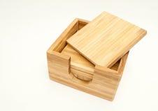Sottobicchieri di legno della bevanda Fotografia Stock