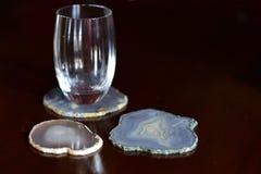 Sottobicchieri minerali Fotografia Stock Libera da Diritti
