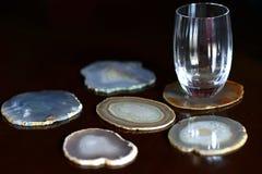 Sottobicchieri minerali Immagini Stock Libere da Diritti