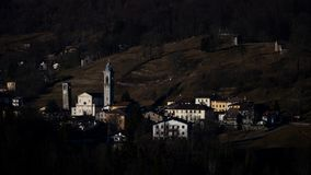Sottochiesa. Small mountain village of Italian Alps in Lombardy province of Bergamo royalty free stock image