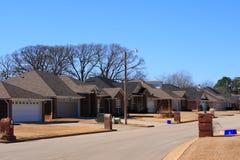 Sottodivisione residenziale del Texas Fotografie Stock Libere da Diritti