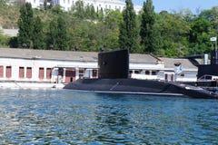 Sottomarino diesel sulle strade Fotografie Stock Libere da Diritti