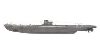 Sottomarino isolato Immagini Stock Libere da Diritti