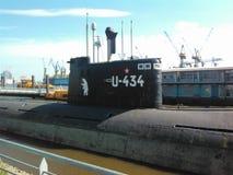 Sottomarino sovietico a Amburgo Fotografia Stock