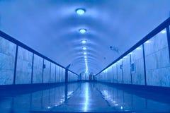 Sottopassaggio del corridoio sotterraneo immagine stock