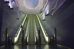 Sottopassaggio di Napoli, Toledo Art Station Fotografia Stock