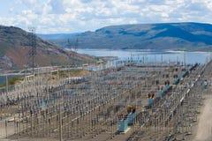 Sottostazione di distribuzione di energia Immagine Stock Libera da Diritti