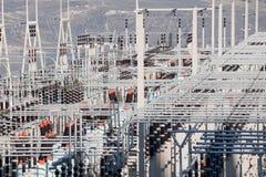 Sottostazione di distribuzione di energia Immagini Stock Libere da Diritti