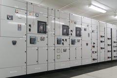Sottostazione di distribuzione di energia elettrica Fotografia Stock