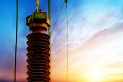 Sottostazione di tempo di tramonto fotografie stock libere da diritti