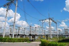 Sottostazione elettrica Immagini Stock Libere da Diritti