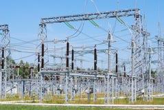 Sottostazione elettrica Fotografia Stock