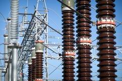 Sottostazione elettrica Fotografie Stock
