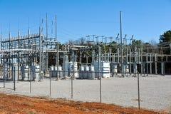 Sottostazione elettrica Immagini Stock