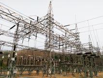 Sottostazione elettrica Immagine Stock Libera da Diritti