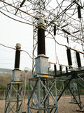 Sottostazione elettrica Fotografie Stock Libere da Diritti