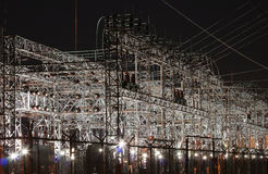 Sottostazione elettrica Immagine Stock