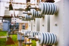 Sottostazione elettrica dell'attrezzatura immagine stock