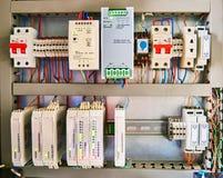 Sottostazione elettrica dell'attrezzatura immagini stock libere da diritti