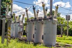 Sottostazione elettrica dell'attrezzatura immagine stock libera da diritti