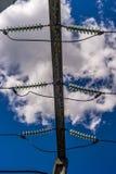 Sottostazione elettrica dell'attrezzatura fotografia stock