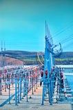 Sottostazione elettrica elettrica Fotografia Stock