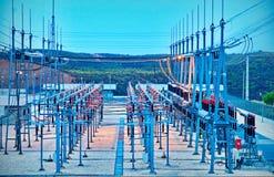 Sottostazione elettrica elettrica Immagini Stock