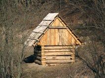Sottotetto di legno su Vlkolinec Immagini Stock Libere da Diritti