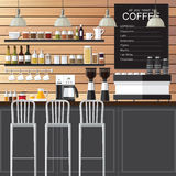 Sottotetto di progettazione della caffetteria Fotografia Stock